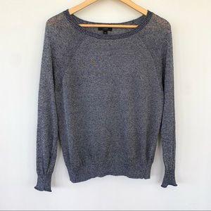 J. Crew linen blend crew neck sweater, oversized